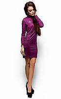 Женское замшевое платье, фиолет, р.42-48*