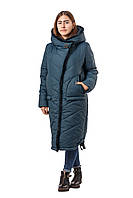 Длинная зимняя куртка из плащевой ткани