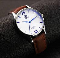 Мужские наручные часы Yazole Коричневый, Белый
