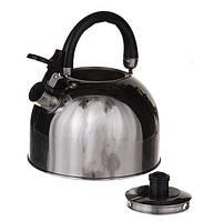 Чайник со свистком на 3,5л. Нержавеющая сталь.(1323)