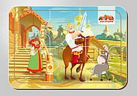 Деревянный паззл, серия «Три богатыря», размер 140*200 мм, 6 деталей, арт. 102203