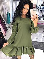 Платье (S-L) —  креп-сафари от компании Discounter.top