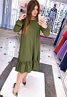 Платье (48-50) —  креп-сафари от компании Discounter.top