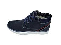 Мужские зимние ботинки с нат.кожи Van Kristi Limited NK Blue размеры: 40 41 42 43 44 45