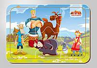 Деревянный паззл, серия «Три богатыря», размер 140*200 мм, 6 деталей, арт. 102208