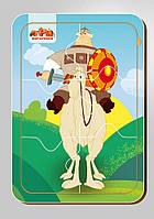Деревянный паззл, серия «Три богатыря», размер 140*200 мм, 6 деталей, арт. 102205