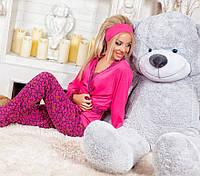 Костюм домашний, пижама. Малиновый, 3 цвета.