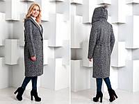 Удлиненное женское демисезонное пальто оверсайз 640233 cd517e10630f5