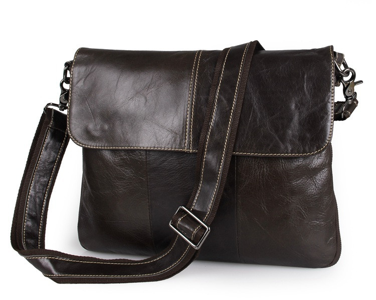 f727059b0bd1 Изысканная мужская кожаная сумка горизонтальная формата А4 шоколадного  цвета (00411)