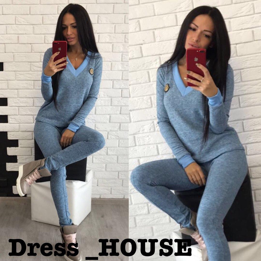 6ac4039c Женский повседневный костюм из ангоры с V-вырезом 505118 - Интернет-магазин  одежды