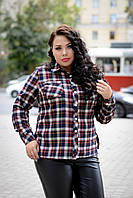 Женская фланелевая рубашка в клетку размер 68-70 1015243r