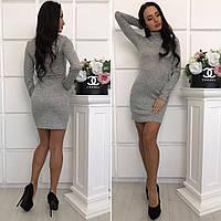 Короткое женское теплое платье гольф ангора софт