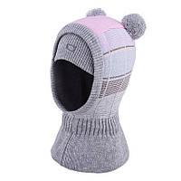 Теплый шлем  для девочки р.50-54