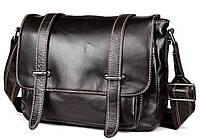 d59f623eb48d Эксклюзивная мужская кожаная сумка горизонтальная формата с кожаным ремнем  кофейного цвета