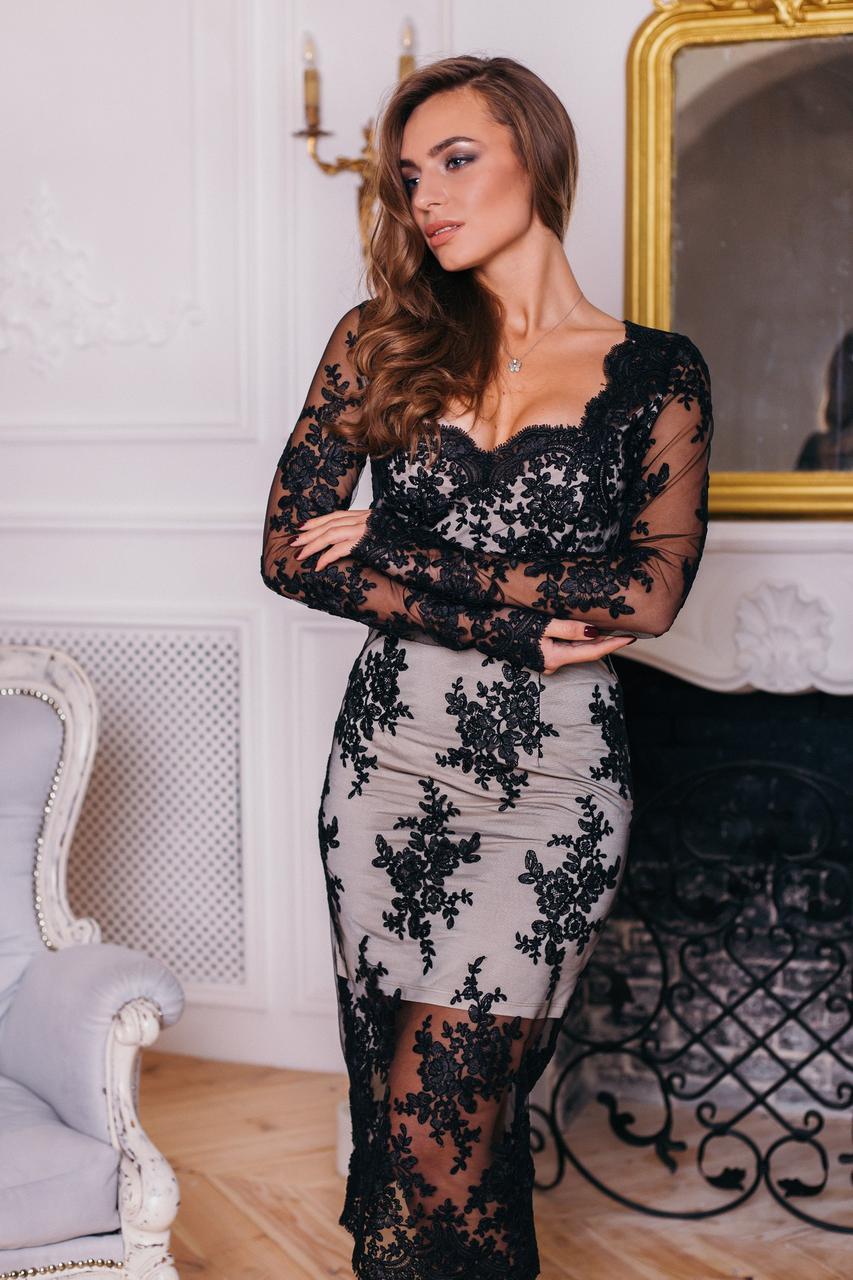 Элегантное платье из кружева