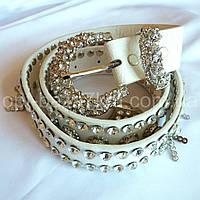 Женский ремень кожзам с камнями — купить в Розницу в одессе 7км