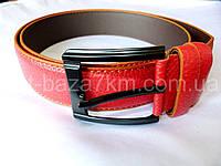 Мужской ремень красный с прошивкой 4 см — купить в Розницу в одессе 7км