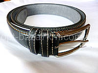 Мужской ремень черный с прошивкой 4 см — купить в Розницу в одессе 7км