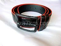 Мужской ремень черный/красный с прошивкой 4 см — купить в Розницу в одессе 7км