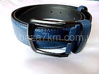 Мужской ремень синий с прошивкой 4 см — купить в Розницу в одессе 7км