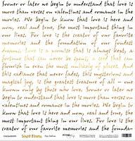 Лист односторонней бумаги с золотым тиснением 30x30 от Scrapmir Про любовь из коллекции Simple Flowers 10шт. 5