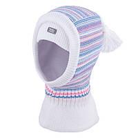 Детский шлем вязаный шерсть мериноса р.50-54