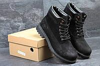 Зимние ботинки Timberland (черные) (3514)