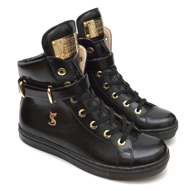 fb88fb91 Кроссовки кожаные черные Y.S. высокие: продажа, цена в Киеве ...
