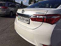 Спойлер лип багажника Toyota Corolla 2013-2018 стеклопластик под покраску