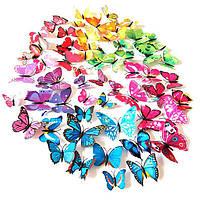 Объемные 3D бабочки на стену (обои) для декора Код:147704281