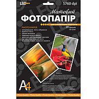 Фотобумага для принтера Leo 720119 A4 230г/кв.м, 20л, матов L3735 Код:388906821