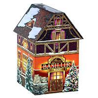 Чай черный Basilur в подарочной коробке Рождественский домик 100г
