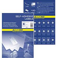 Этикетки листовые Buromax 2813 А4 2шт 48,5х210мм (100л) Код:401624200