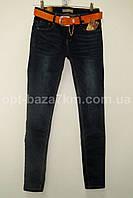 Женские джинсы с ремнем M.Sara (26-32) — оптом по низким ценам от производителя в одессе 7км, фото 1