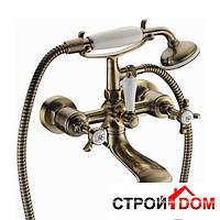 Смеситель для ванны с крестовыми рукоятками Imprese Cuthna antiqua 10280