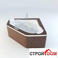 Ванна Jacuzzi Aura Corner 160 Top (передняя панель и топ из дерева) отделка Тик (9F43-524A)