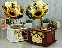 "Шкатулка музыкальная "" Патефон"" 13х11х22см для украшений и на подарок!"