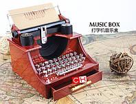 """Печатная машинка ретро """"Унесенные призраками"""" Музыкальная шкатулка подарок на день рождения!"""