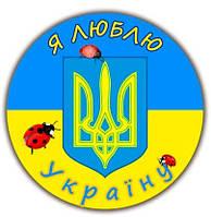 Значок сувенирный Символика Украины божьи коровки