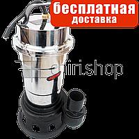 Насос фекальный нержавейка дренажный погружной 40-75 мм, Eurotec PU 208 для грязной воды, хромоникелевая сталь