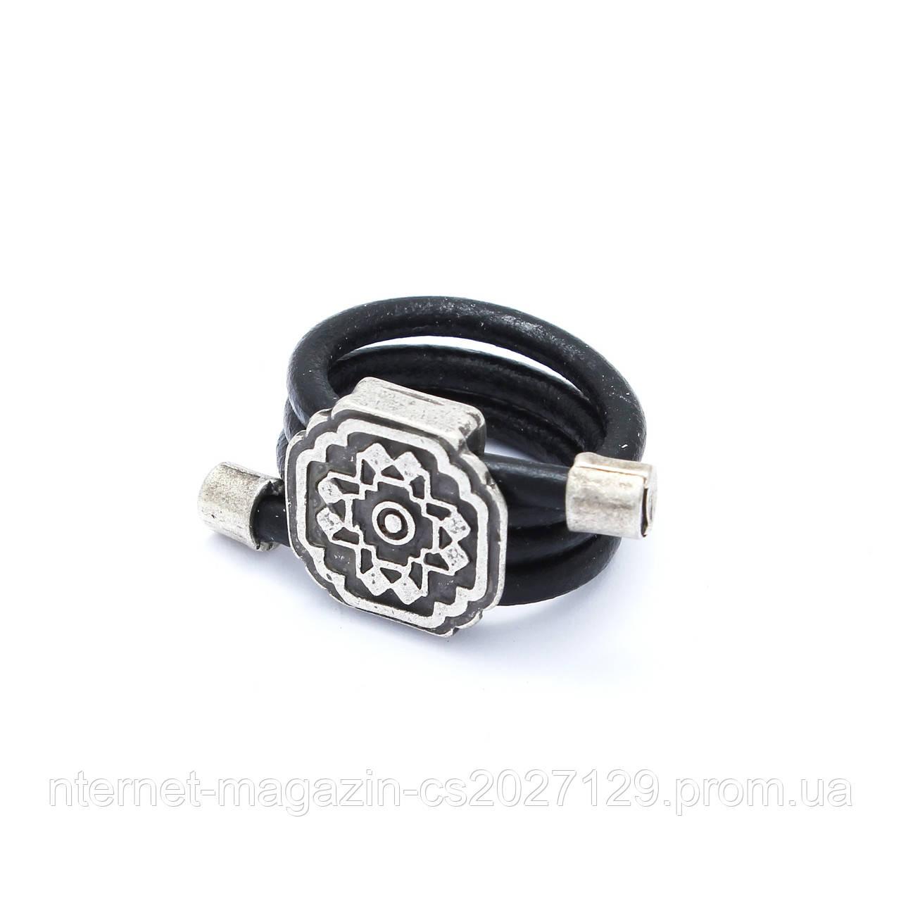 Кольцо Семислава (18 размер, кожа)