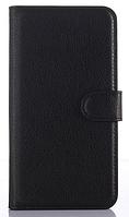 Кожаный чехол-книжка для  Lenovo ZUK Z1 черный