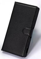 Кожаный чехол-книжка для Sony Xperia Z1 L39h C6906 C6903 C6902 C6943 черный