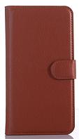 Кожаный чехол-книжка для  Lenovo ZUK Z1 коричневый