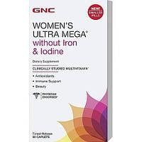 Витамины для женщин GNC Womens Ultra Mega Without Iron and Iodine (90 таб)