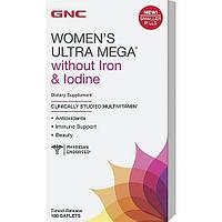 Витамины для женщин GNC Womens Ultra Mega Without Iron and Iodine (180 таб)