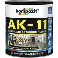 Эмаль Kompozit АК-11 серая 1 кг N50115061