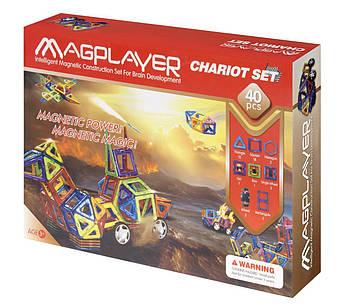 Конструктор Magplayer магнитный набор 40 эл. MPB-40, фото 2