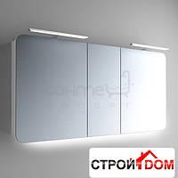 Зеркальный шкафчик с LED подсветкой Marsan Adele 5 650х1300 графит