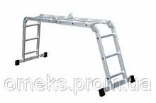 Лестница шарнирная Forte FE4*3 - 4*3 ступ., длина 3,55/0,98 м, вес 14 кг BPS
